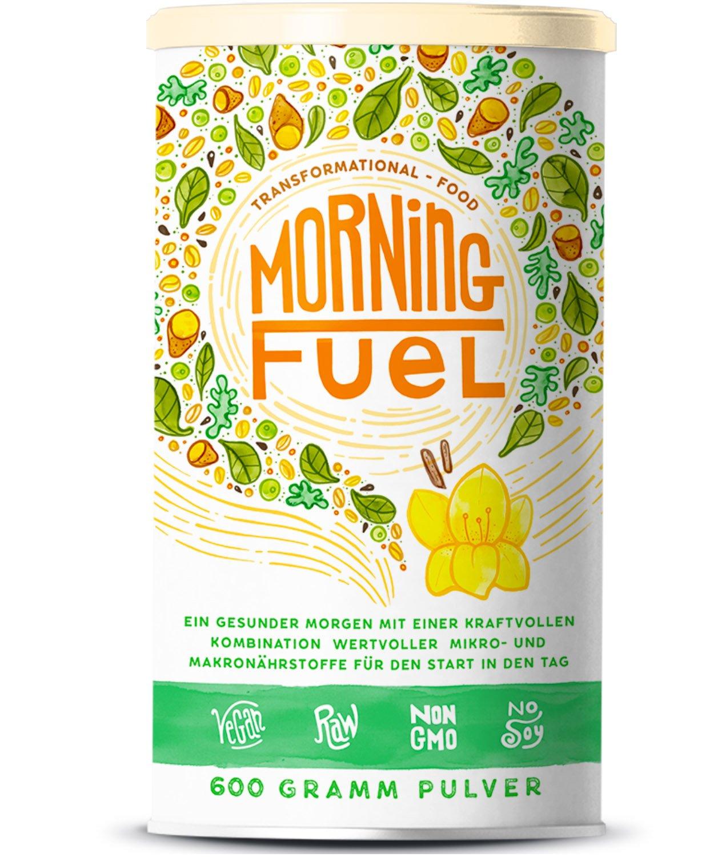Morning Fuel | Frühstücksmischung mit Mikro- & Makronährstoffen | Quinoa, Chia, MCT Öl, Erbsenprotein, Hafer, Algen, Alfalfa, Spinat, Maca | Vitamine B6 + B12 | 600g Pulver mit Vanille product image