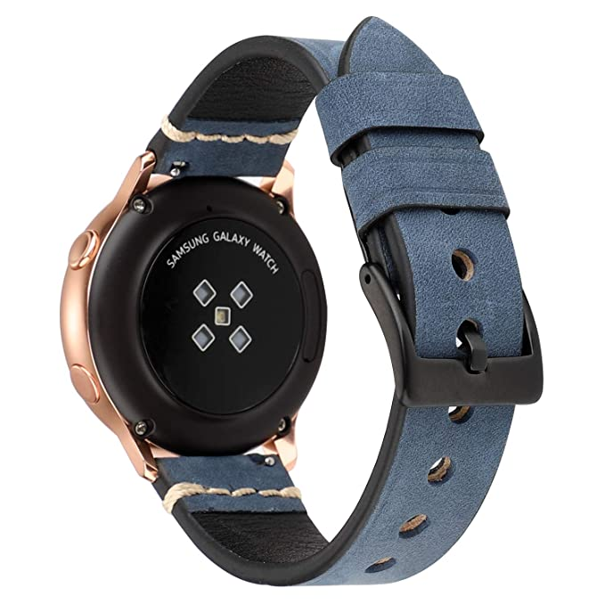 LBYZCAS Compatible for Samsung Galaxy Watch 46mm Replacement Band, Gear S3 Classic Strap,Soft Genuine Leather 22mm Sport Watch Wristband Compatible ...