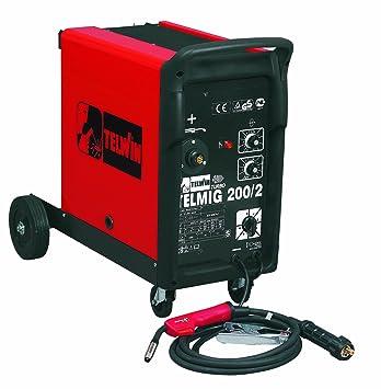 Telwin TE-821056 - Equipo de Soldadura TELMIG 200/2 TURBO 230V -Bobina max. 15 Kg.: Amazon.es: Bricolaje y herramientas