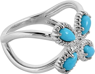 product image for Carolyn Pollack Sterling Silver Blue Lapis, Turquoise & Mother of Pearl Gemstone Ring Size 5 to 10
