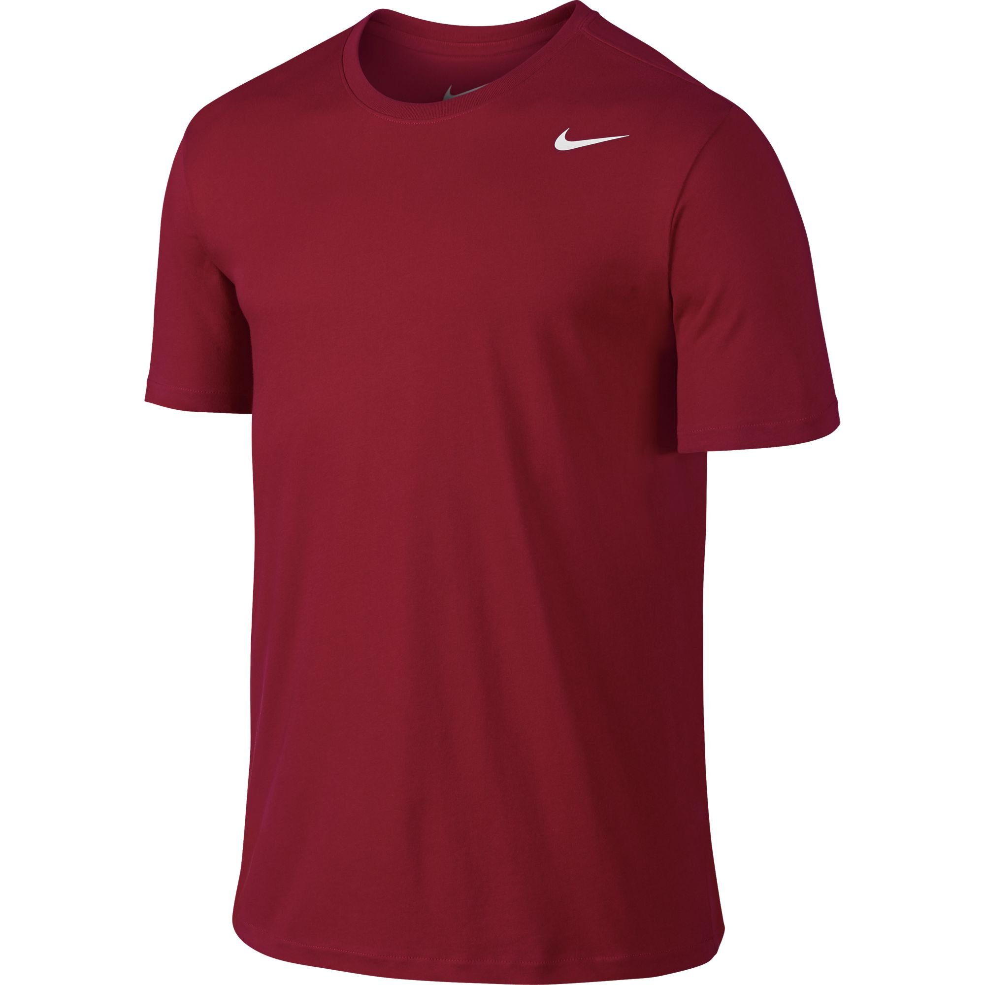 NIKE Men's Dri-FIT Cotton 2.0 Tee, Gym Red/Gym Red/White, Small