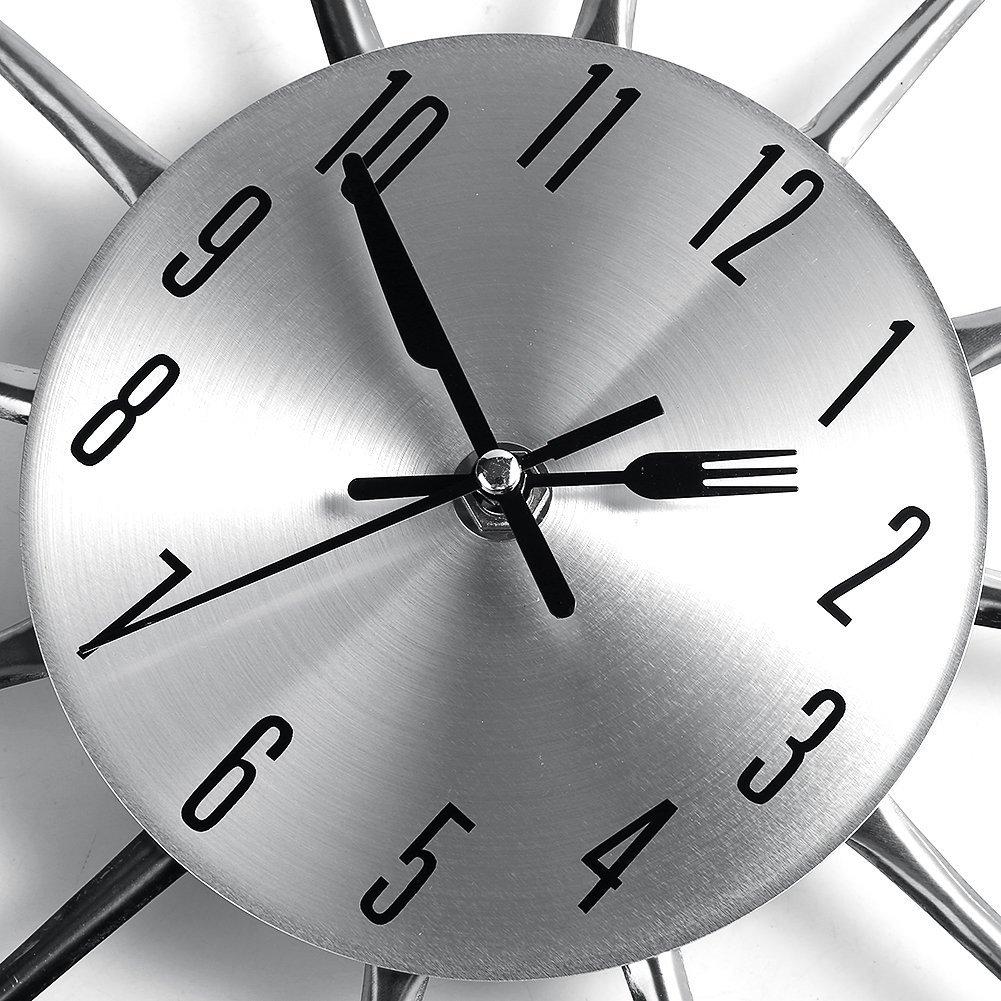 Reloj De Cocina Moderno   Ohuhu Cubiertos Cocina Tenedor Y Cuchillo Del Reloj De Pared