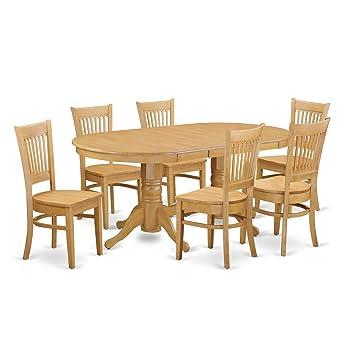 Amazon.com: East West Furniture – Mesa de comedor 7 piezas ...