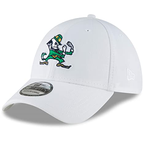 deaa0935187 Notre Dame Fighting Irish New Era College Classic 39Thirty Flex Hat White  (Small Medium