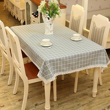 ZXY Manteles cuadros estilo minimalista moderno gris, casa mesa de ...