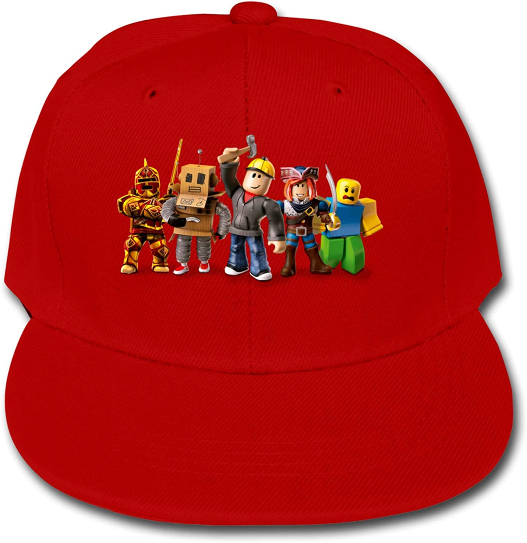 ETONKIDD Rob-Lox Children's Cotton Baseball Caps, Adjustable Flat Cap, Solid Color Baseball Cap Black