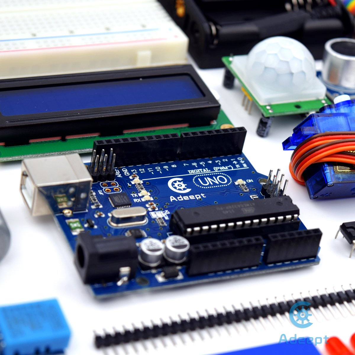 Relay Beginner Starter Kit with 140 Pages Guidebook//Instructions Book LCD1602 Servo Motor Adeept Ultimate Starter Kit for Arduino UNO R3 Processing and C Code