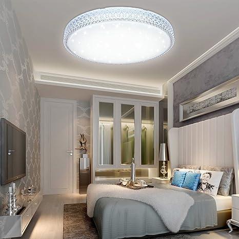 VGO® LED cristal techo Starry Sky cálido Starlight techo iluminación salón techo lámpara corredor cámara Belle Mordern cuarto de baño luz (50W Blanco ...