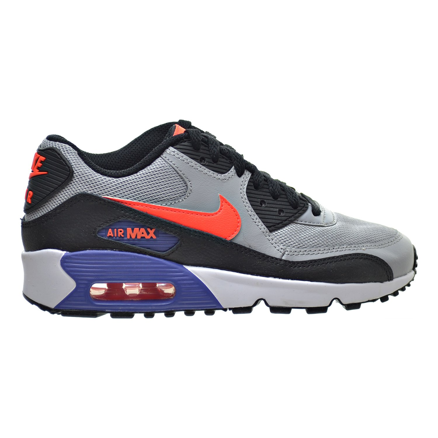 online retailer d99ff 50388 Amazon.com   Nike Air Max 90 Mesh(GS) Big Kids Shoes Wolf Grey Crimson Dark  Purple 833418-002 (6 M US)   Running