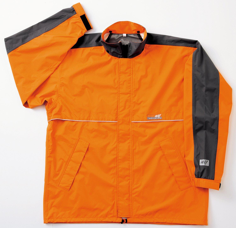 ワールドマーチ レインジャケット 全3色 全5サイズ オレンジ EL 防水透湿 収納袋付き 反射テープ付き [正規代理店品] B019RVQ0WY EL|オレンジ オレンジ EL