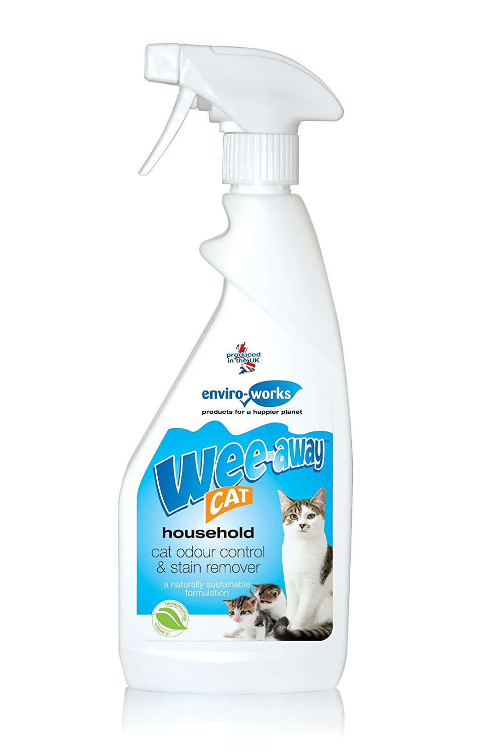 Wee-Away Cat Odour Control and Stain Remover 500ml Enviro-Works 5060230110066