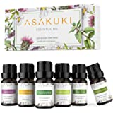 ASAKUKI Essential Oils Top 6 Gift Set, 100% Pure Therapeutic Grade Aromatherapy Oils for Diffuser,Humidifier, Massage…