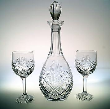 Karaffe aus Kristall Bleikristall  Römer Schnapsglas Kristall Set 6 Weingläser