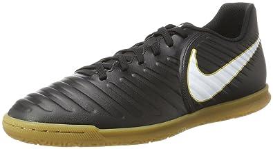 NIKE Men's Tiempox Rio IV (IC) Indoor Soccer Shoe Black/White Size 6