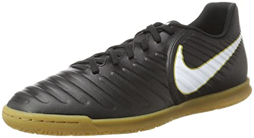 Tiempox Rio IV IC, Botas de Fútbol para Hombre, Negro (Black/White/Black/Metallic Vivid Gold), 46 EU Nike