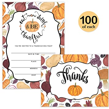 amazon com thanksgiving day dinner invitations folded thank you
