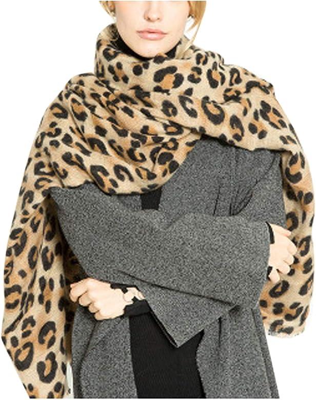 selezione premium a3df0 e79f9 Le Sciarpe Inverno Caldo Moda Leopardata Lunga Sciarpa