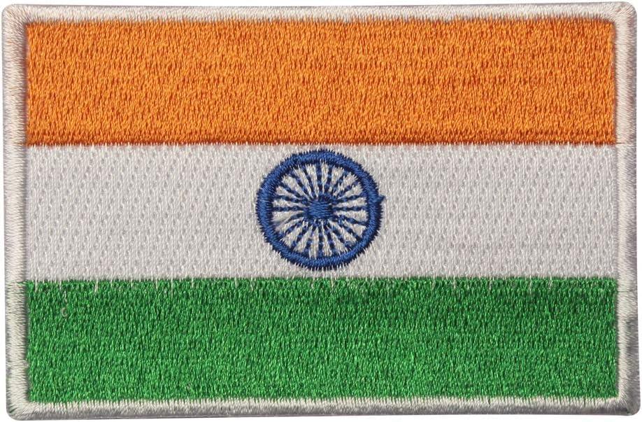 Parche bordado con la bandera de la India para coser o planchar ...