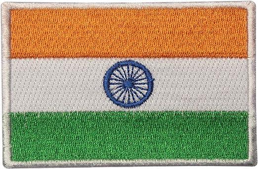 Parche bordado con la bandera de la India para coser o planchar, para ropa, etc.: Amazon.es: Hogar