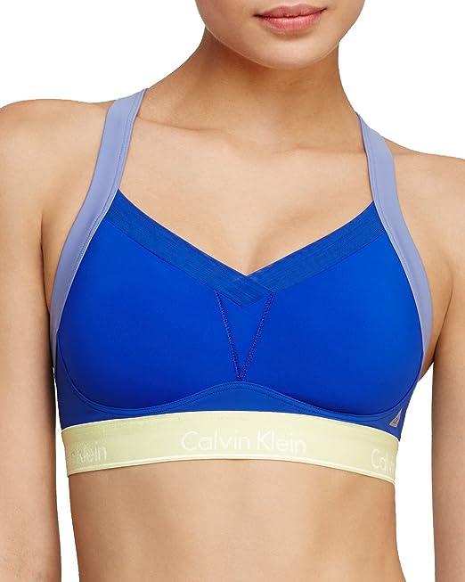 Calvin Klein de las mujeres Flex movimiento Convertible sujetador deportivo de alto impacto - Azul - : Amazon.es: Ropa y accesorios