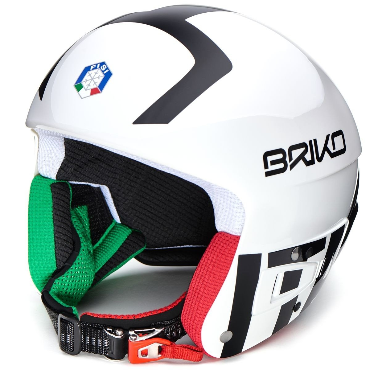 ブリコ レーシング ヘルメット BRIKO VULCANO FIS 6.8 - FISI ホワイト/ブラック [2001JV0-F10-60CM]   B01N4KV4A7