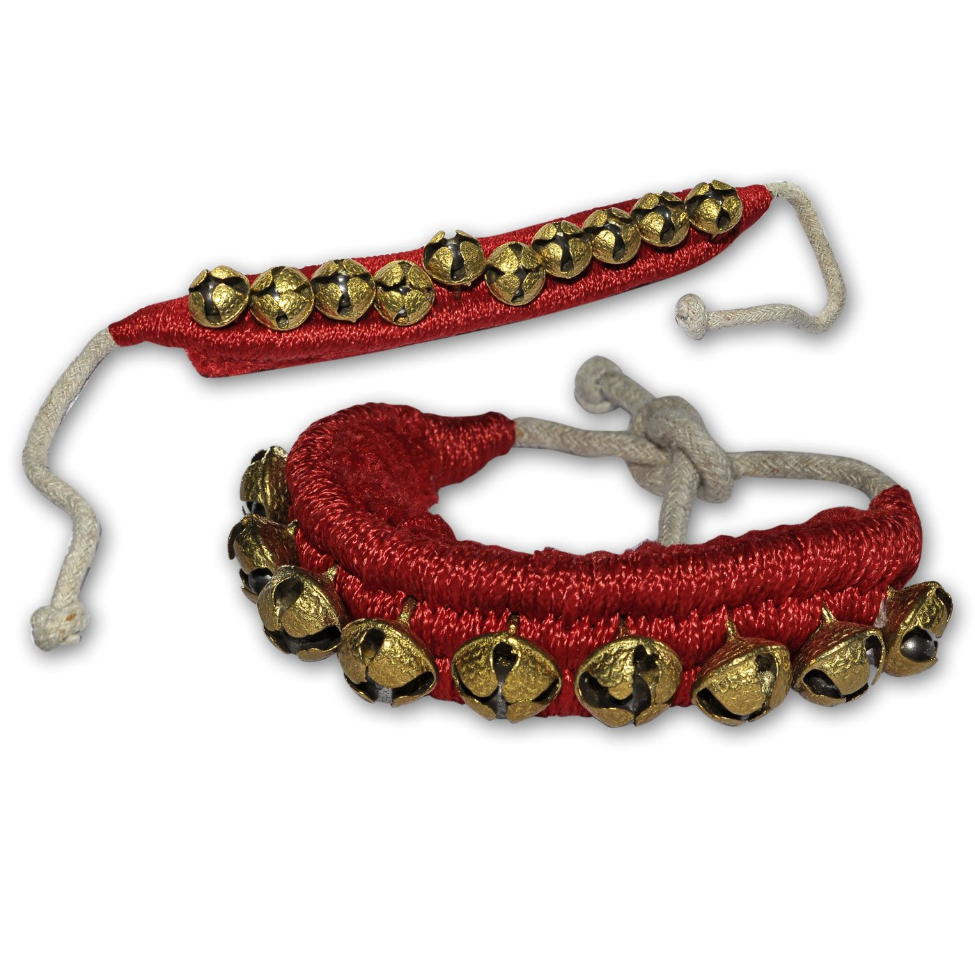 AsiaCraft Four Line Big Bells Ghungroo Red Pads