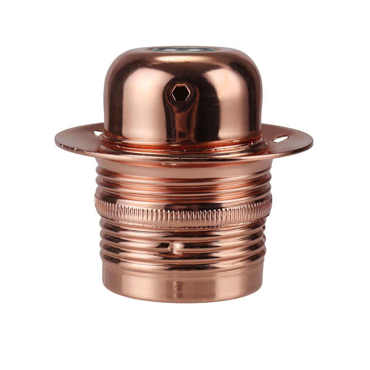 GreenSun LED Lighting Edison Douille Vintage E27 Adaptateur De Lampe Ré tro Vintage Lustre Sans Fil, Suspendue Porte-Lampe 110-240V, Laiton antique