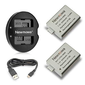 Newmowa LP-E5 Batería de Repuesto (2-Pack) y Kit de Cargador ...