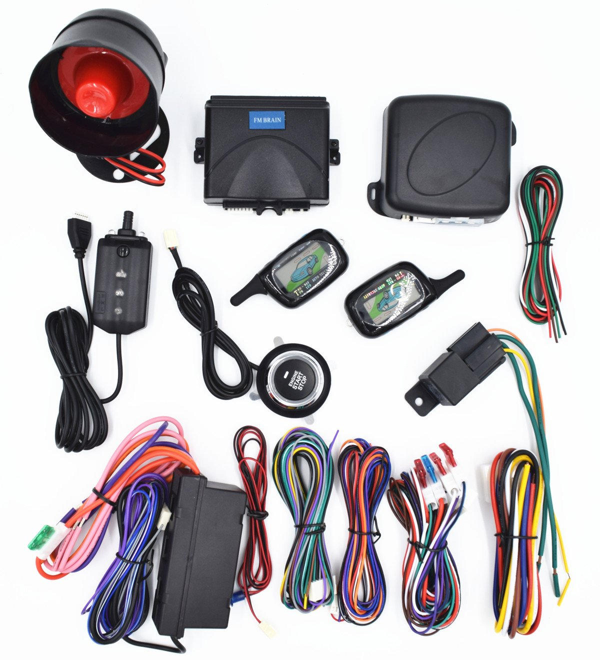 Carbest Vehicle Security Paging Car Alarm 2 Way Lcd 1951 Ferrari Wiring Harness Sensor Remote Engine Start System Kit Automatic One Button