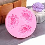 ilauke Flower Silicone Cake Mold for Chocolate Cookie Cupcake Muffin