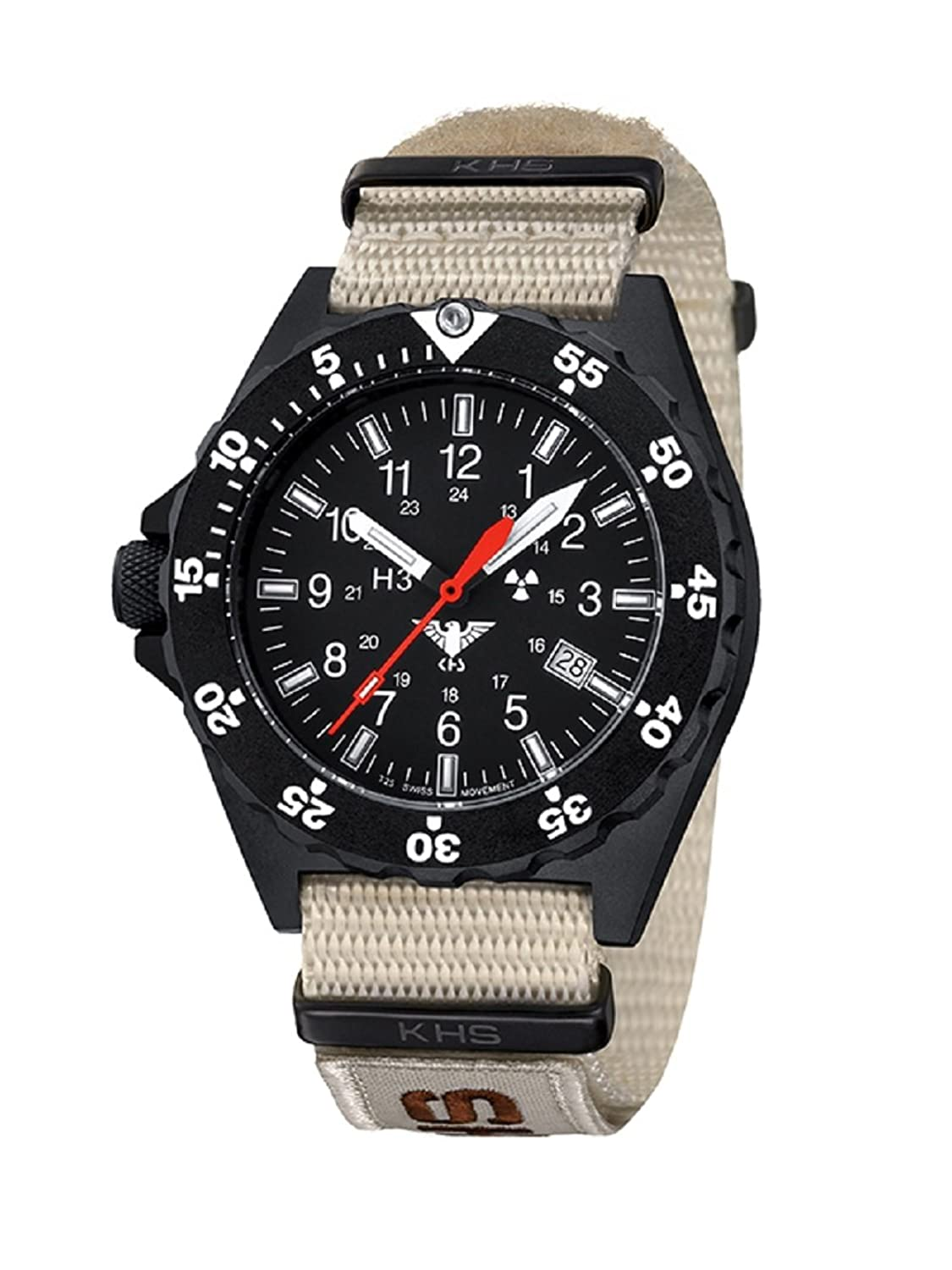KHS Shooter KHS.SH.NXTLT5 Natoband tan inkl. Watch-Glass-Protection Schutzfolie