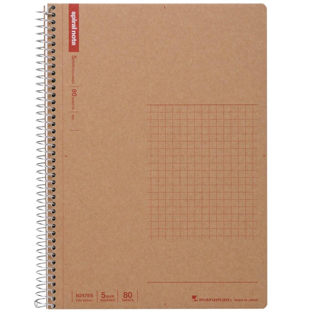 Maruman A5 spiral notebook grid ruled 80 sheets N247ES 5 volume set by Maruman