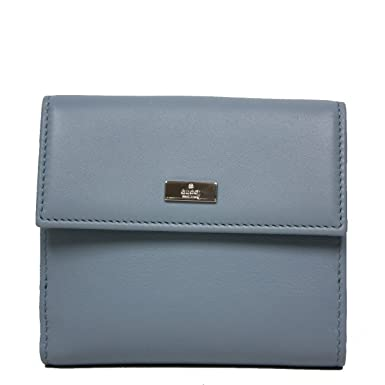 the latest bf6f0 c87d5 Gucci Leather Small French Flap Wallet 143387, Baby Blue at ...