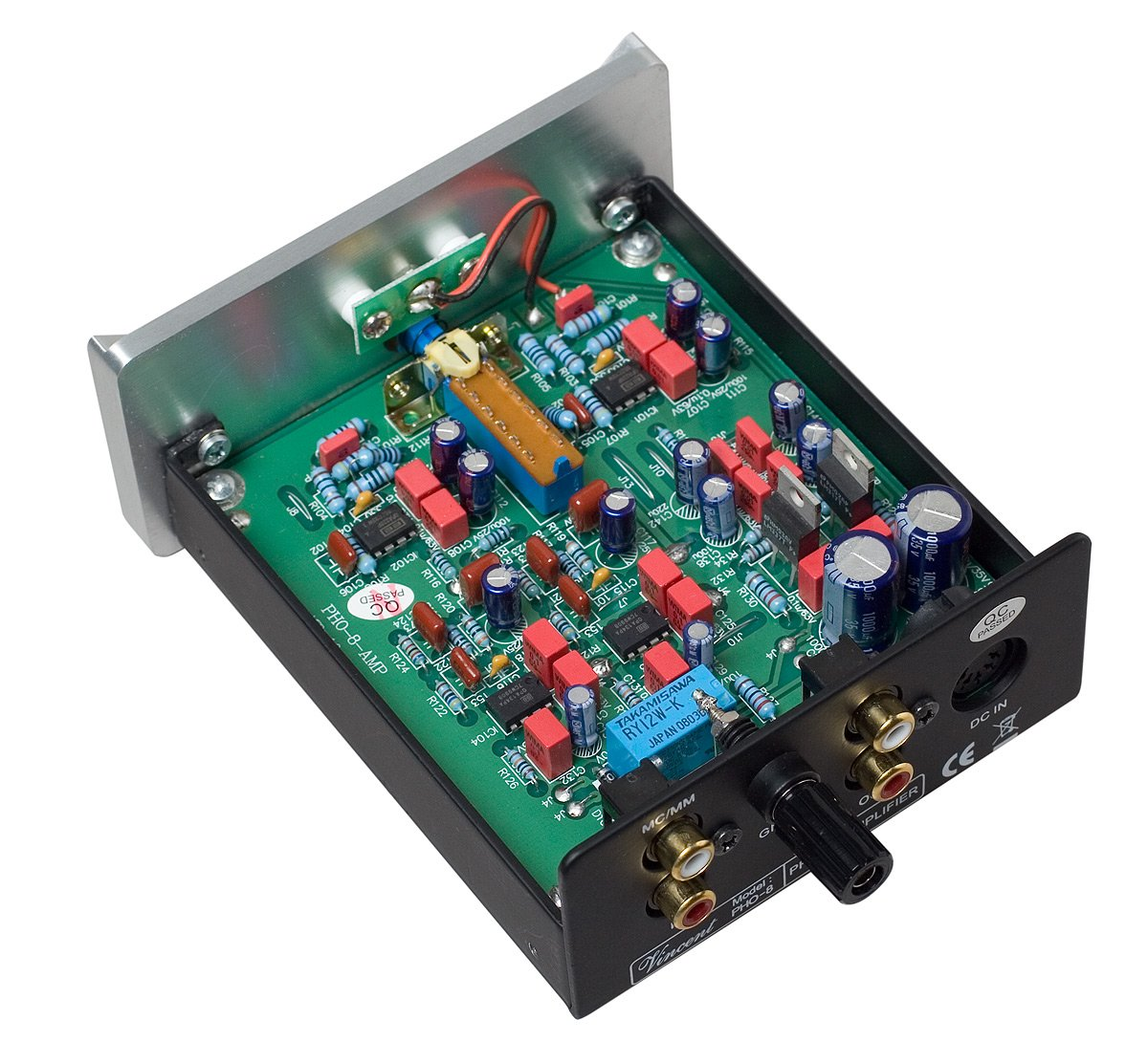 Vincent PHO 8 Phono Stage MM/MC Outboard Power Supply Black by Vincent (Image #4)