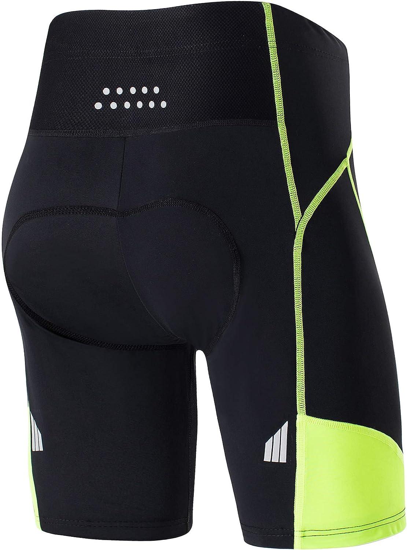 KORAMAN Mens Cycling Shorts Breathable Gel Padded Mountain Bike Bicycle Ride Pant