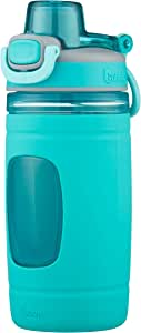 bubba Flo Kids Water Bottle with Silicone Sleeve, 16 oz., Aqua