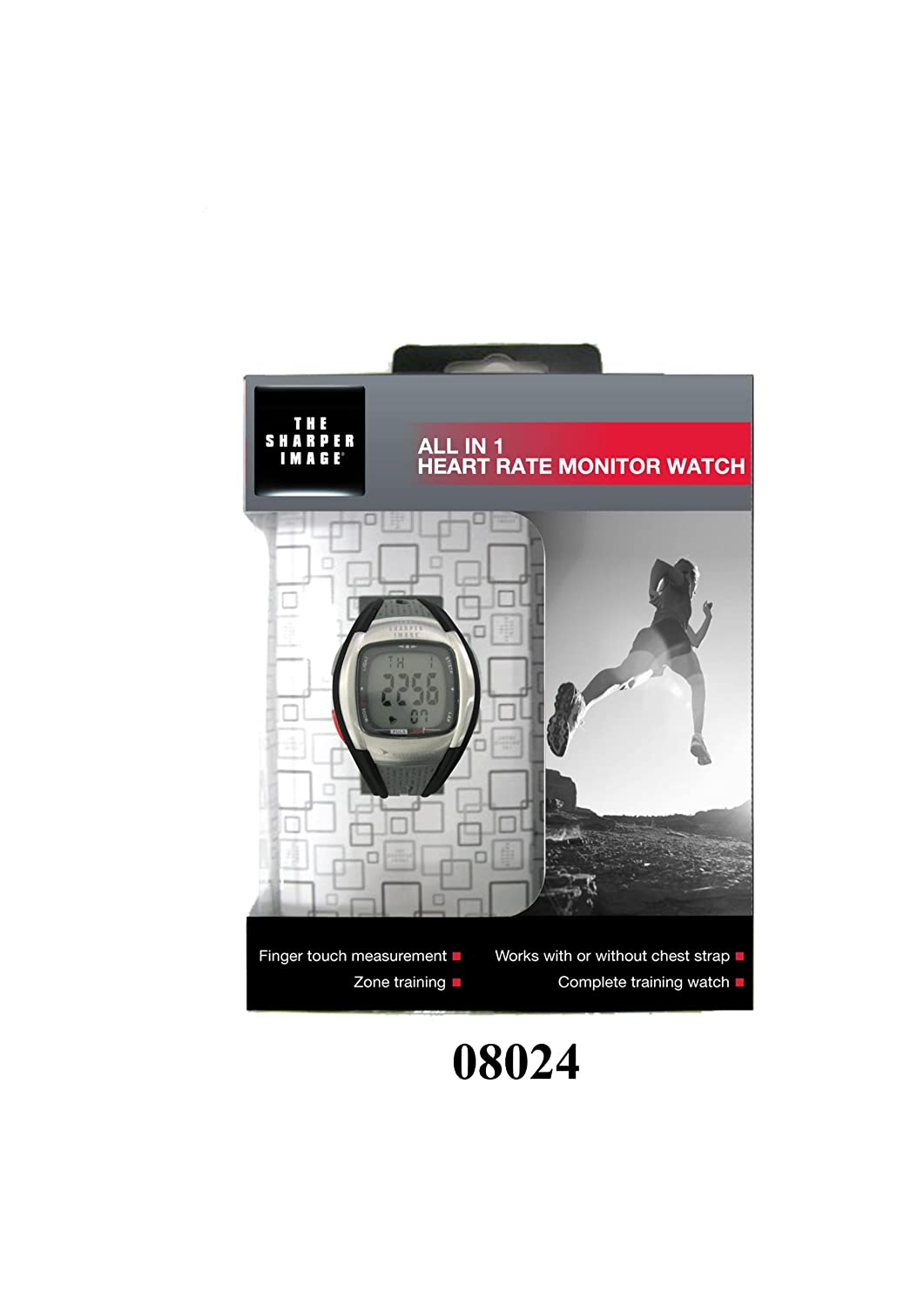 amazon com sharper image 08024 men s all in 1 heart rate monitor amazon com sharper image 08024 men s all in 1 heart rate monitor watch health personal care