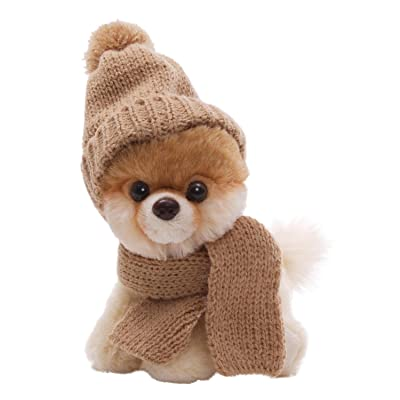 "GUND 5"" Itty Bitty Boo in Knit Scarf and Cap Plush: Toys & Games"