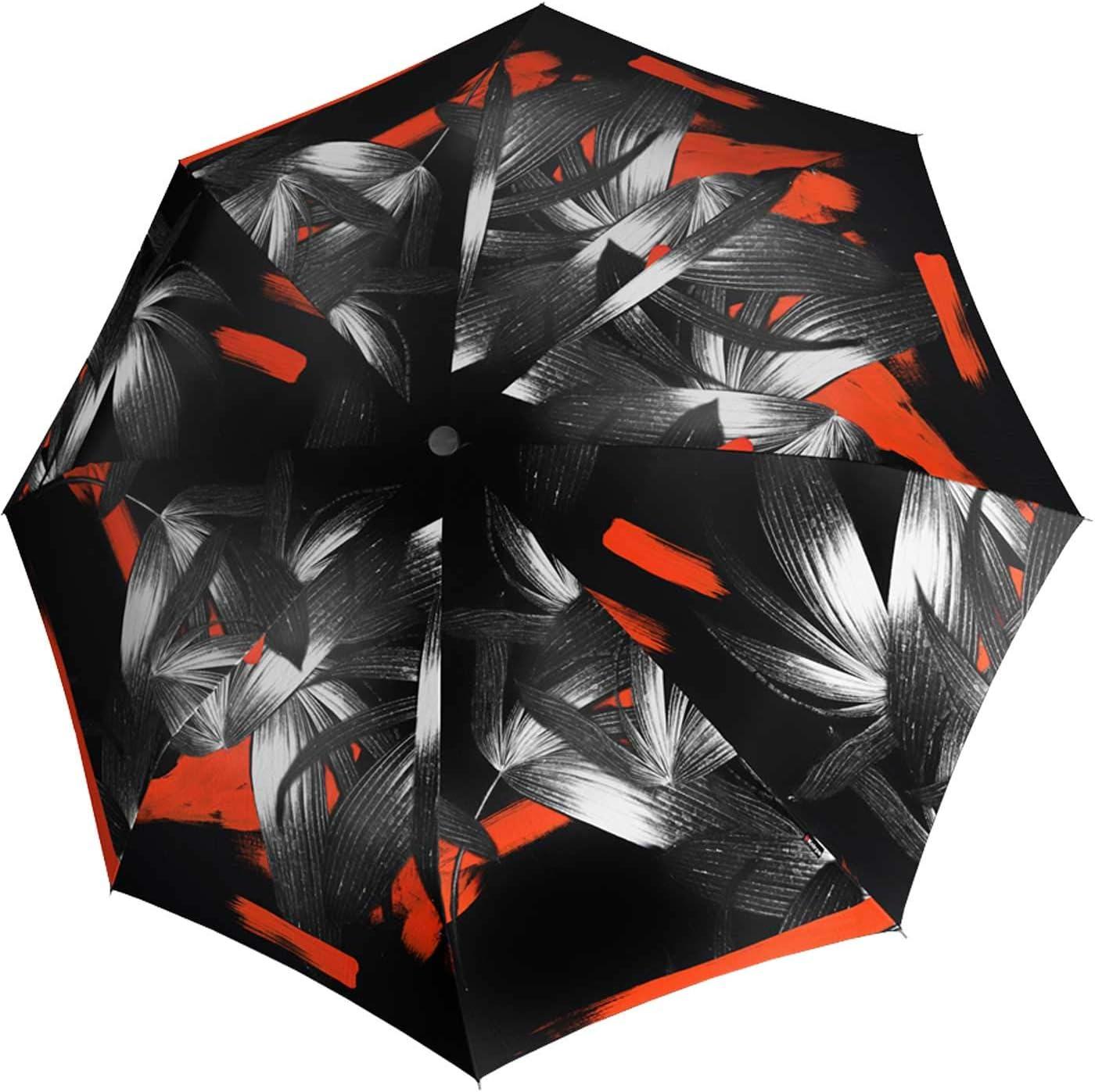 Knirps Parapluie pliants Femme Multicolore Noir//Gris//Rouge 99 cm