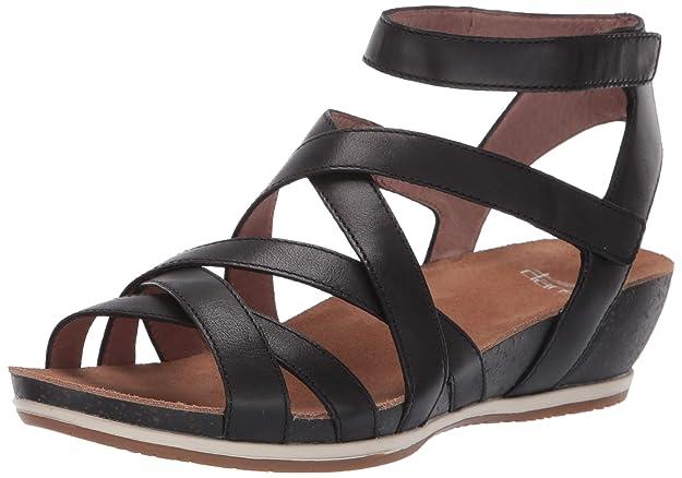 Dansko Women's Veruca Sandal, Black Waxy Burnished, 42 M EU (11.5-12 US)