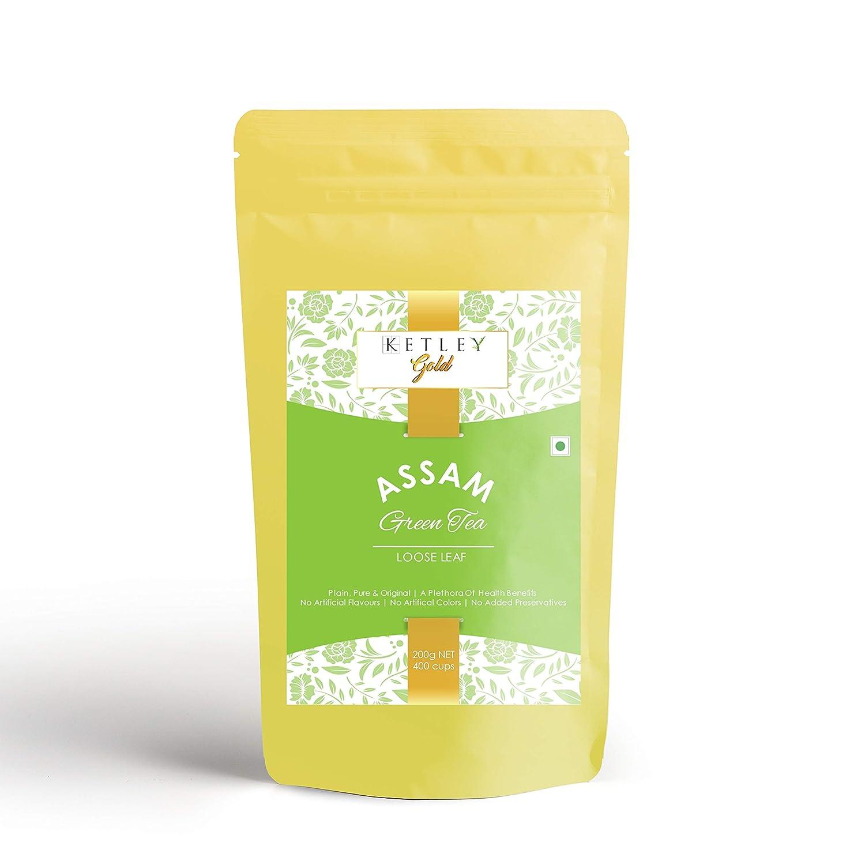 Ketley Gold Assam Green Tea, 200gm | Pack of 2