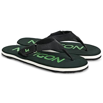 fd209bf8334e Navigon Dark Green Synthetic Flip Flops for Men  Buy Online at Low Prices  in India - Amazon.in