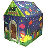 Muren fluorescent LED light tent house for Kids play tent 3+, Multicolour (Design 2)