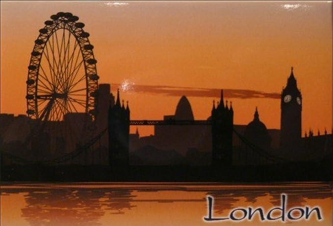 "UK England Ferris Wheel Locker Magnet Eye of London 2/"" X 3/"" Fridge"