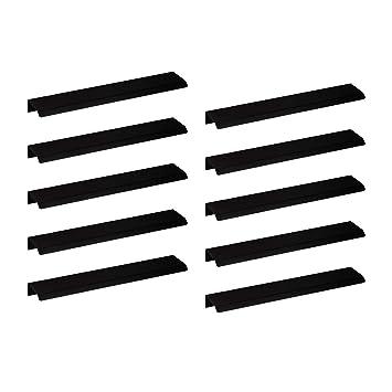 Design Schubladengriff mit Harpunen-Steg Profilgriff mit L/änge 146 mm K/üchengriff Aluminium f/ür Schubladen Moderner M/öbelgriff K/üche Griffleiste Edelstahl schwarz matt 1 St/ück AG10011