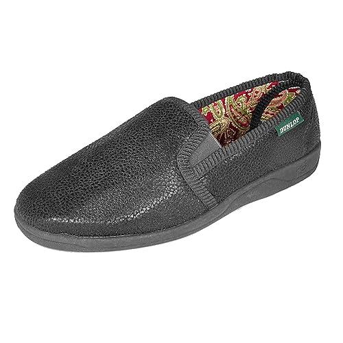 Elegante Mens controllare foderato pantofole slip-on prezzo basso