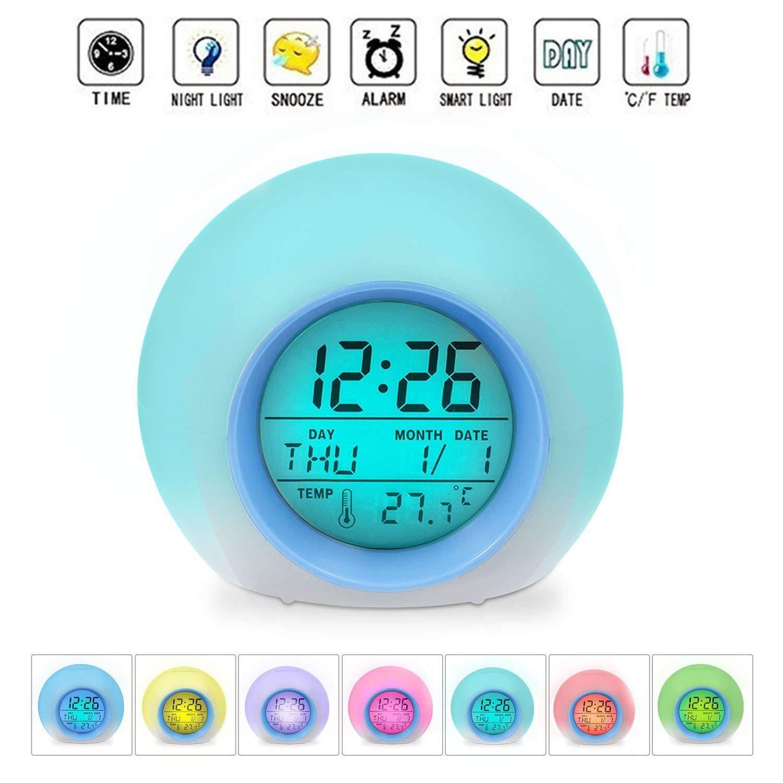 GB UNICORN Alarm Clock LED Wake-up Light with Temperature