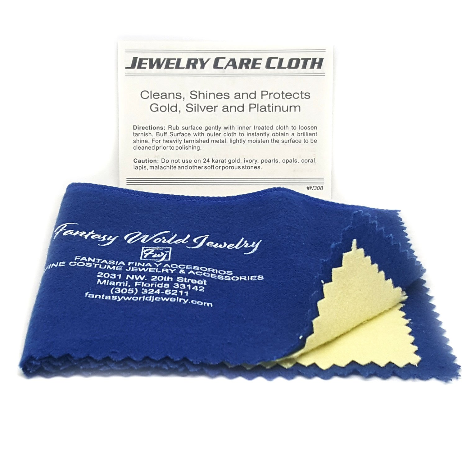 fwj Jewelry Polishing Cloth, 8x10.