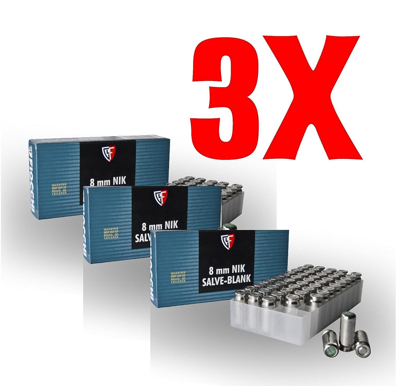 150 FIOCCHI Cartucce a Salve Cal.8mm PAK (3x50 pezzi)