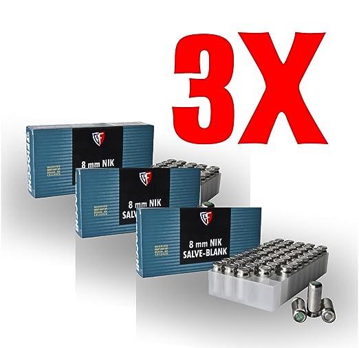 2 opinioni per 150 FIOCCHI Cartucce a Salve Cal.8mm PAK (3x50 pezzi)